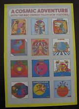 VINTAGE PETER MAX GRAPHIC ART POSTER PRINT ~A Cosmic Adventure~Zodica signs ~