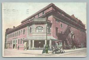 Greenwall Theatre NEW ORLEANS Antique Early Silent Film Theater Postcard 1909