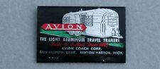 Vintage 1960's Avion Travel Trailer Matchbook, Sacramento, California