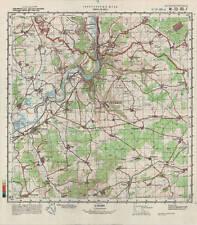 Russian Soviet Military Topographic Map - SIERCK LES BAINS (France), ed.1987