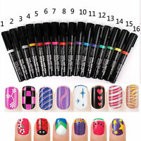 Nail Art Pen Painting Design Tool 24 colors to Choose Drawing Gel Easy Made