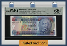 TT PK 46 ND (1995) BARBADOS CENTRAL BANK 2 DOLLARS PMG 68 EPQ SUPERB GEM UNC!