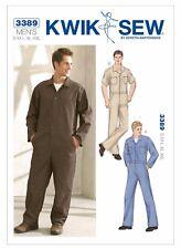 K3389 KWIK SEW Sewing Pattern for Men Mechanic WorkSuit Jumpsuit Coveralls S-XXL