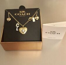Hanging Necklaces & Earrings Rare! Coach Heart TurnLock