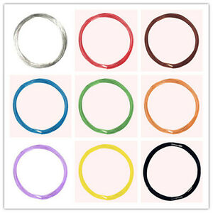 10m flexible Litze 0,04mm² extra dünnes Kabel/ Dekoderlitze cable wire