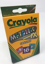 Metallic Fx Crayons Crayola 16 Count Assorted Non Toxic Cool Effects