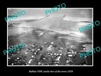 OLD LARGE HISTORIC PHOTO OF BALLINA NSW AERIAL VIEW OF THE TOWN c1920 1