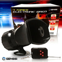 7 Sound Loud Car Warning Alarm Police Fire Siren Horn Speaker System Wireless