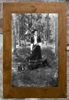 Fantastic... Women Holding Gun,Hunting with Dogs... Antique 5x7 Photo Print