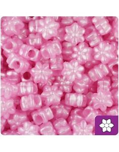 *3 FOR 2* 50 Baby Pink Pearl Flower Shape 12mm Beautiful Quality Pony Beads
