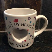 I Left My Heart In Sun Valley 3-D Cut Out Heart Papel Coffee Tea Mug