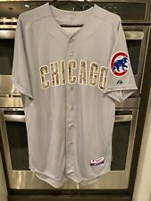 Authentic Chicago Cubs Road USMC Jersey Majestic 44 Auth New TB62 Memorial Camo