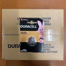 100 Duracell CR2450 3V Lithium Coin Cell Battery 2450 DL2450 K2450L LONGEST EXP