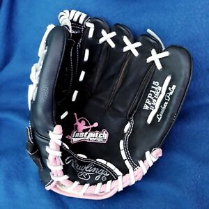 Rawlings Girls Fast Pitch Softball Glove WFP115 11.5 Inch Black and Pink