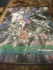 "Mobile Suit Gundam Double-0 Bandai 2009 Poster Banner Anime Mecha RARE 31"" X 43"""