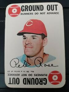 1968 Topps Pete Rose Ground Out Game Card- EX