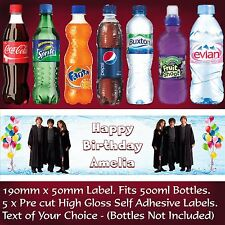 Personalised Harry Potter Water Bottle Labels Birthday Party Decoration - B109