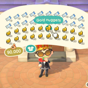 12M Bells, or 400 NMT (Nook Miles Tickets), or MIX!