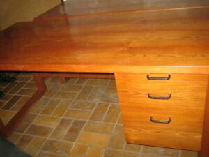 Schreibtisch Palisander Holz Echtholz Büro Tisch Bürotisch Computertisch Edelhol