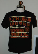 Ladies Keith Urban We're All For The Hall 2010 Graphic T-Shirt Size Large Brown
