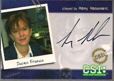 CSI SERIES 2 STRICTLY INK '04 ROMY ROSEMONT JACQUI FRANCO AUTOGRAPH CARD CSI-B3