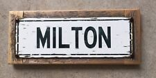 Milton Academy MA Massachusetts Mustangs Vintage Framed Steel Sign Home Decor