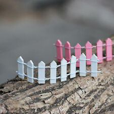 10PCS Wooden Fence Fairy Garden Micro Landscape Furnishing Articles Tool White