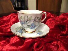 COLCLOUGH TEA CUP AND SAUCER LIME & GOLD GILT ROSES RIDGEWAY  TEACUP