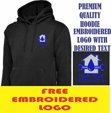 Personalised Embroidered  Hoodie PLUMBING workwear UNIFORM LOGO