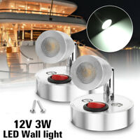 2x 12V Interior LED Spot Reading Light Switch Camper Caravan Motorhome Boat Van