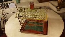 Antique Victorian Bird Cage Ornate Colorful Unique Unusual