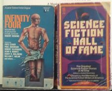 Lot of 2 Vintage Science Fiction story collections: Infinity Four, Hall of Fame