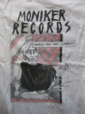 MONIKER RECORDS - awake, thou that sleepest! - WHITE Medium M -  music label