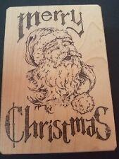 Merry Christmas Santa Wooden Stamper By Inkadinkado