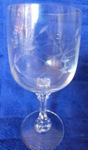 7 Clear Crystal Princess House c1975 WINES Bordeaux Clear Notched Ribbed Stems