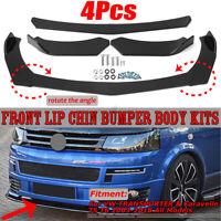 GLOSSY Front Bumper Lip Spoiler Splitter For VW TRANSPORTER T5 T5.1 T6 CADDY