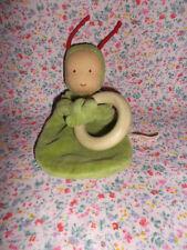 ♥ Schmusetuch Käthe Kruse Waldorf Wichtel Puppe grün Käfer   Kuscheltuch    ❤️