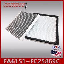 FA6151 FC25869C(CARBON) OEM QUALITY ENGINE & CABIN AIR FILTER: 11-14 AVENGER 3.6