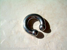 "Circular Barbell Horseshoe Ball Steel 1/2""  0g PA 10MM Externally Threaded"