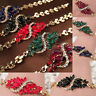 New Women Fashion 18k Gold Plated Leaf 4 Colors Bracelets Bangles Jewelry YH Z0H