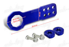 "BLUE 2"" CNC BILLET ALUMINUM ANODIZED JDM FRONT RACING TOWING HOOK UNIVERSAL 5"