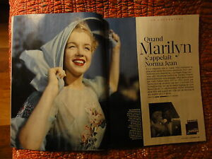 Marilyn Monroe / Figaro magazine/  PHOTOS