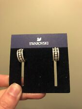 Swarovski 5419852 Further Pierced Earrings, White, Rose Gold Plated, RRP
