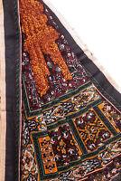 Vintage Indian Long Dupatta Pure Cotton Craft Decor Printed Stole Scarf Hijab