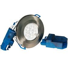 Click Inceptor Micro Satin Chrome Bezel 7W LED Downlight Warm White  LED4300SC7W