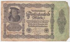 Germany P 79 - 50,000 Mark 1922 - Fine