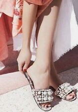929ffa8dc44a Jeffrey Campbell X Free People Facil Pixie Pearl Slide Sandals Taupe Velvet  6