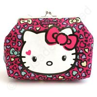 Hello Kitty Sweet Leopard Kisslock Make Up or Wash Bag  NEW