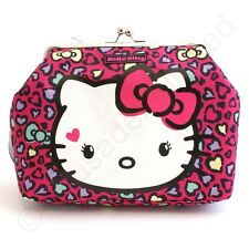 Hello Kitty Sweet Leopard Kisslock Make Up or Wash Bag  NEW  22531