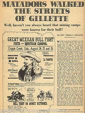 Gillette, Colorado-Matadors From Mexico Hold Bull Fight